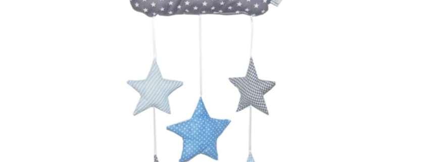 Mobile Sterne hellblau