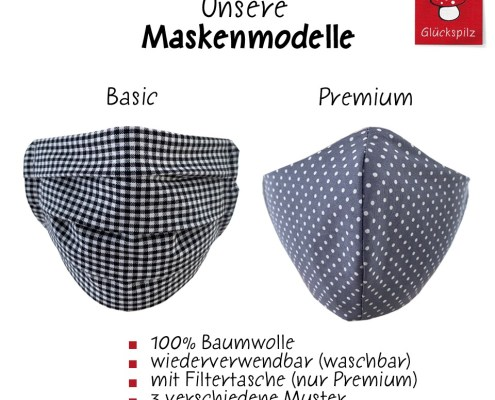 Gesichtsmasken Übersicht der Modelle