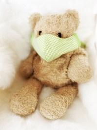 Kindermaske Premium Karo grün