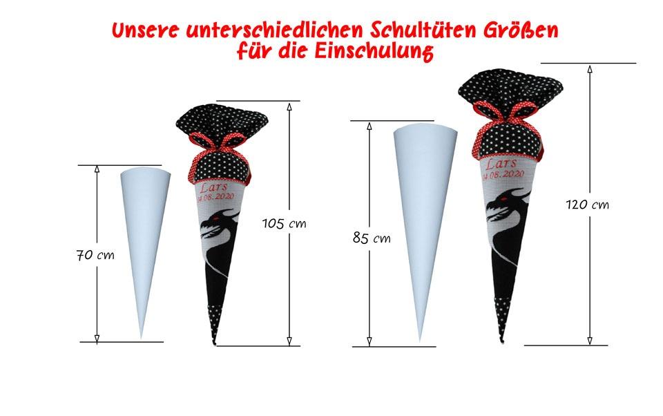 Schultüte personalisiert zur Einschulung in zwei Größen