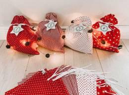 Glückspilz Weihnachtskalender XXL - mit extra großen Säckchen zum Füllen