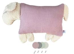 Schauen Sie Sich hier unser Kuscheltier Kissen Schaf in Pastellfarben an