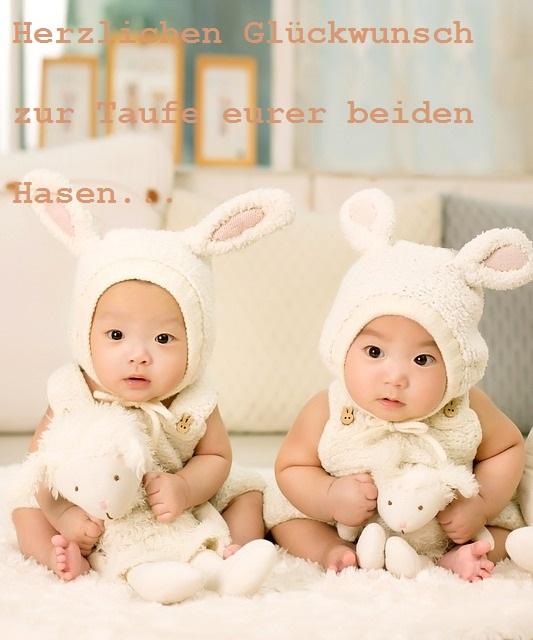 Charmant Taufkarte Zwillinge Lustig