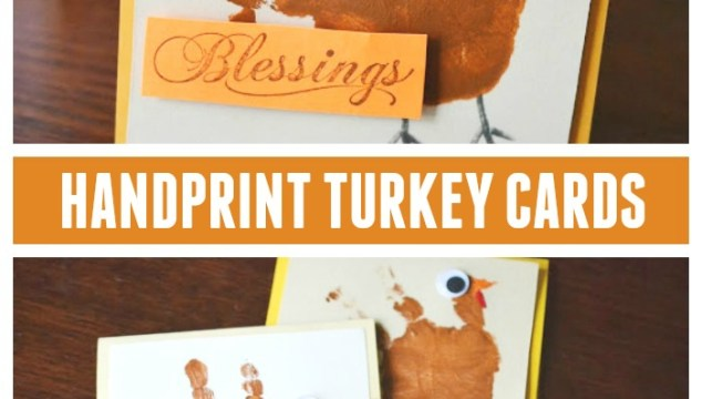 Handprint Turkey Cards – Kid Craft