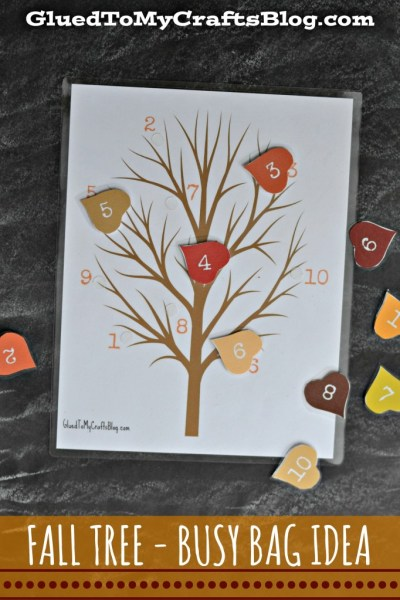 Fall Tree - Busy Bag Idea + Free Printable