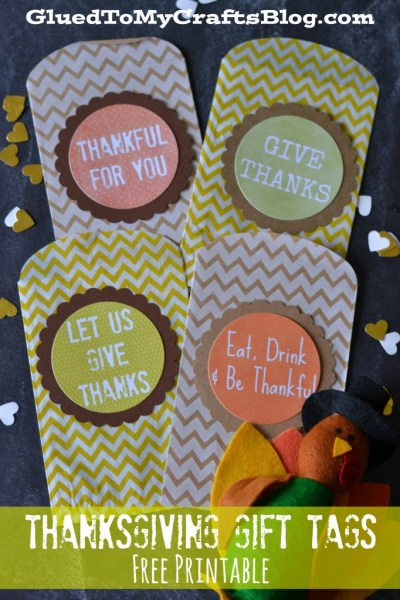 Thanksgiving Gift Tags - Free Printable