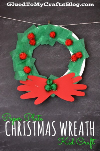 Paper Plate Christmas Wreath {Kid Craft}