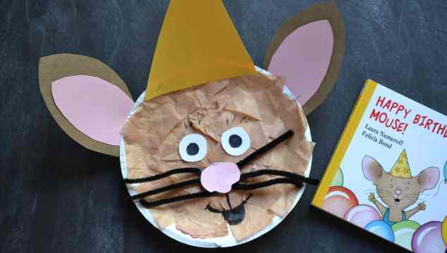 Happy Birthday Mouse – Paper Plate {Kid Craft}