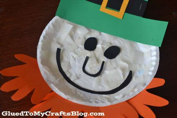 Paper Plate Leprechaun {Kid Craft}