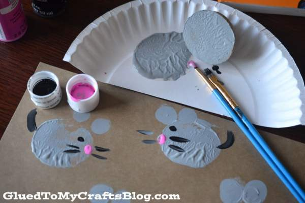 Potato Stamped Mice {Kid Craft}