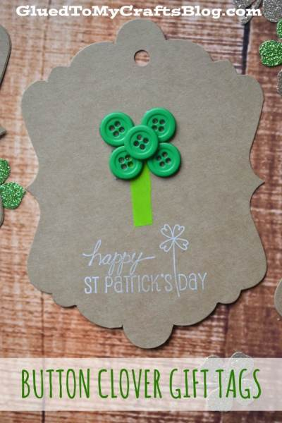 Button Clover Gift Tags
