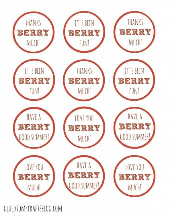 Berry Much Gift Tag Printable