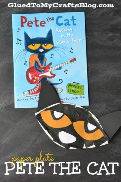 Paper Plate Pete The Cat - Kid Craft