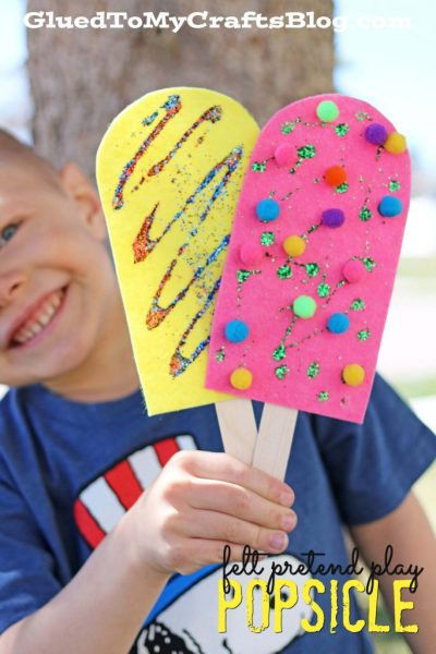 Felt Pretend Play Popsicles - Kid Craft