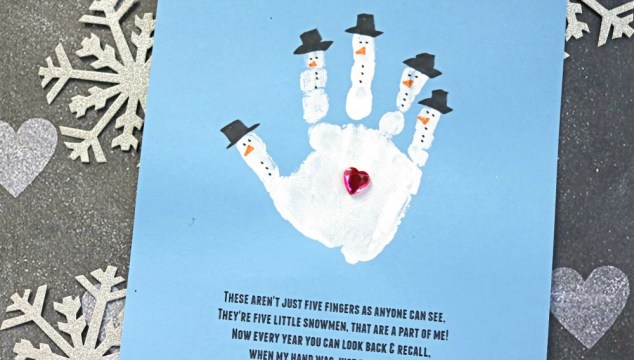 Handprint Snowman – Poem Keepsake Printable
