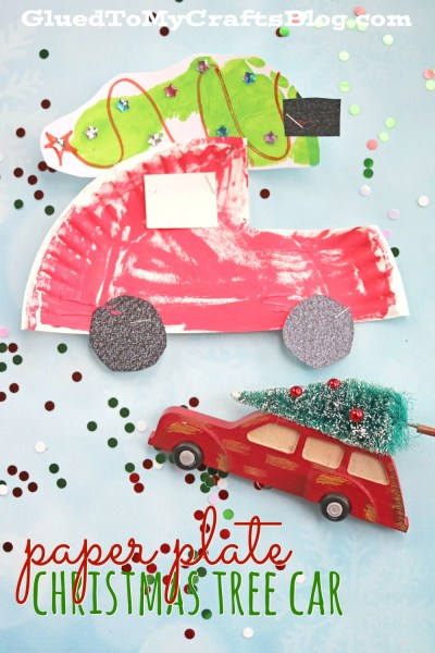 Paper Plate Christmas Car - Kid Craft