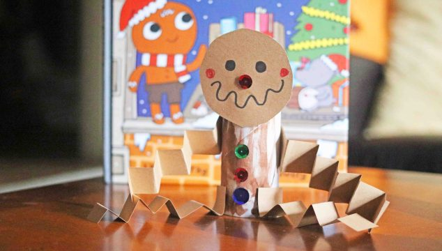 Paper Tube Gingerbread Man – Kid Craft