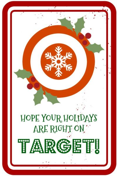 Right On Target - Gift Card Printable