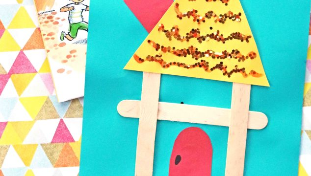 "Popsicle Stick ""H"" Is For House – Kid Craft"