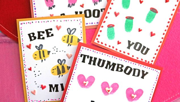 Thumbprint Valentine's Day Cards – Kid Craft