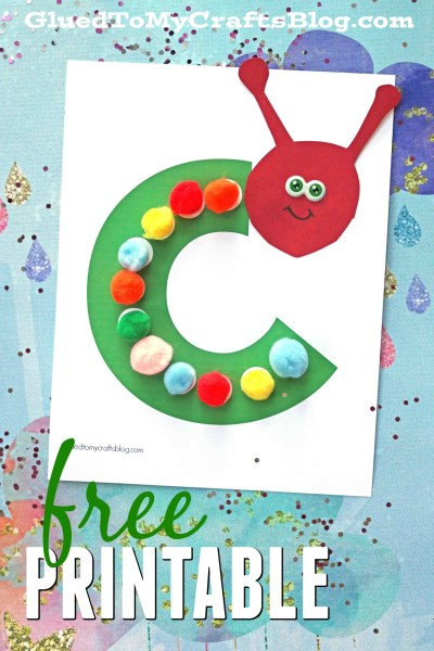 C is for Caterpillar - Free Printable Kid Craft