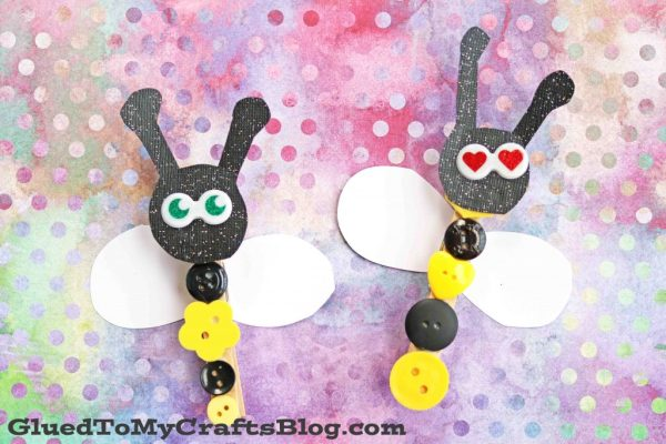Clothespin Button Bees - Kid Craft