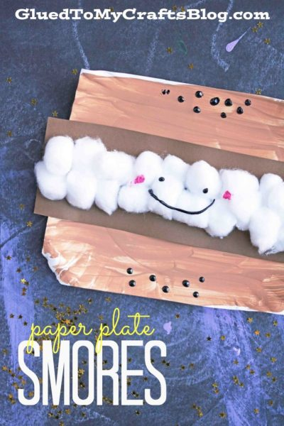Paper Plate Smores - Kid Craft