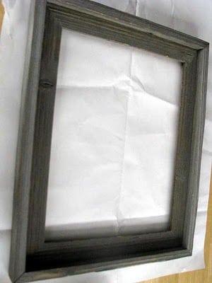 Framed Chalkboard Menu Tutorial - Gluesticks