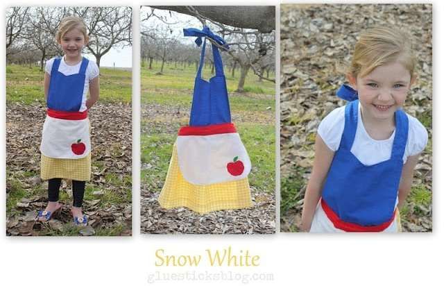 Use our 8 in 1 princess apron pattern and tutorial to create any number of Disney princesses! Anna, Elsa, Ariel, Cinderella (2 versions!), Snow White, Belle, and Aurora. This easy to follow pattern and tutorial is free and the perfect gift for your little girl!