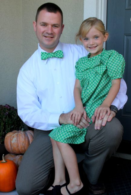 bow tie with daddy