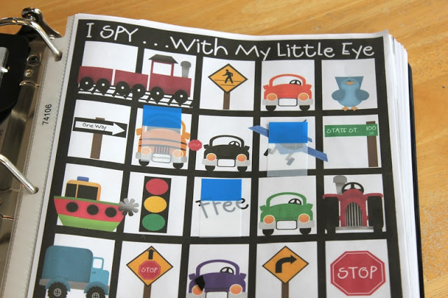 Road Trip Binders for Kids gluesticksblog.com