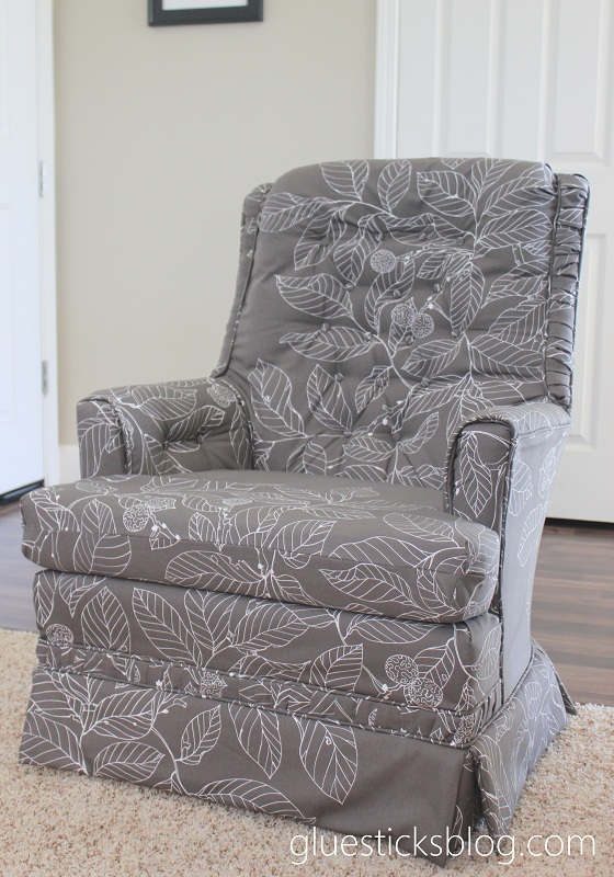 how to reupholster a swivel rocker with step by step photos