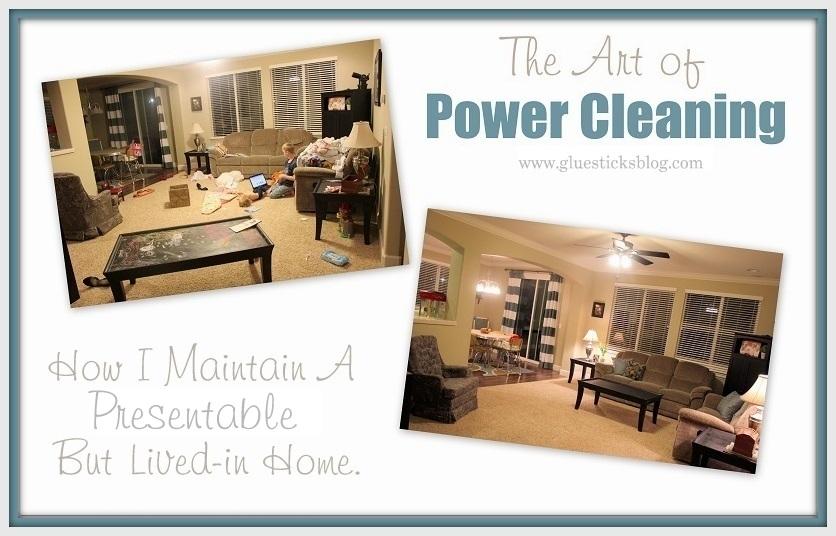 how i power clean my house | gluesticks