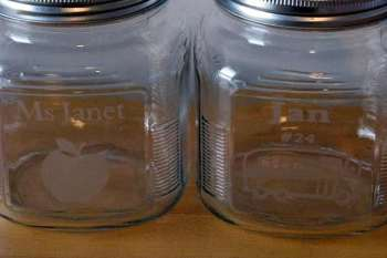 Acid Etched Jars