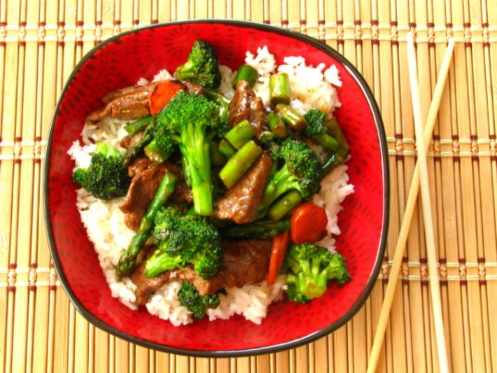 Steak and Vegetable stir fry is delicious with my homemade yum yum sauce