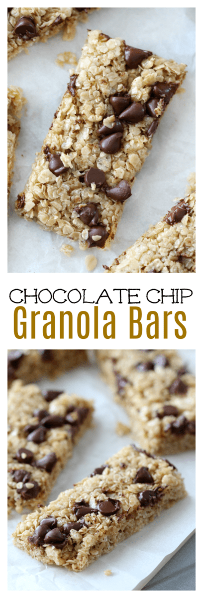 Soft, chewy, and sweetened with honey and brown sugar, this no-bake granola bar recipe has all the flavor without any of the preservatives of your favorite store bought granola bars! Add chocolate chips, peanut butter chips, or raisins to create different varieties!