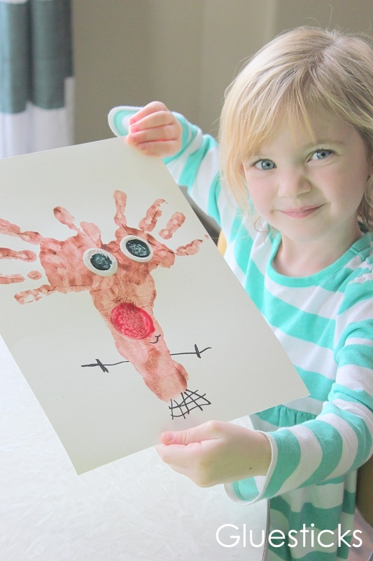 Easy preschool Christmas activity. Reindeer.
