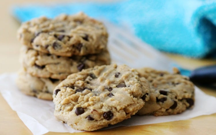 Soft and chewy, even after a couple of days, these peanut butter chocolate chip cookies are simply irresistible! Make a batch this week!