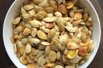 Perfectly Toasted Pumpkin Seeds