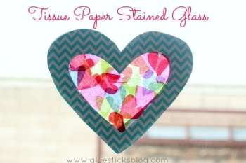 Tissue Paper Stained Glass {Sun Catchers}