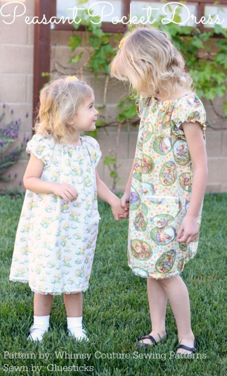 Peasant Pocket Dress Pattern gluesticksblog