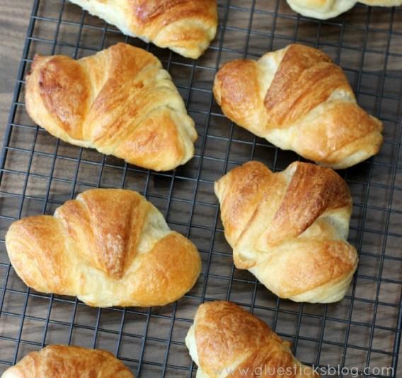 homemade flaky croissants