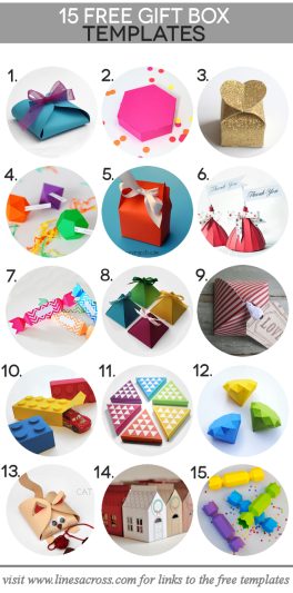 15 Free Paper Gift Box Templates