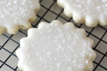 Bakery Style Sugar Cookies with Lemon Icing