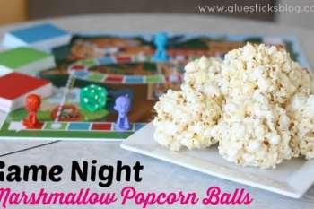 Game Night Marshmallow Popcorn Balls