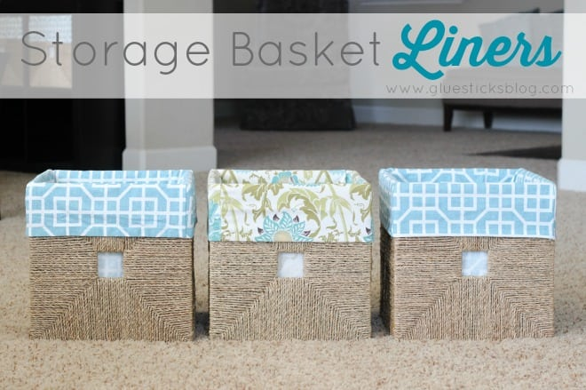 Storage Basket Liners Tutorial
