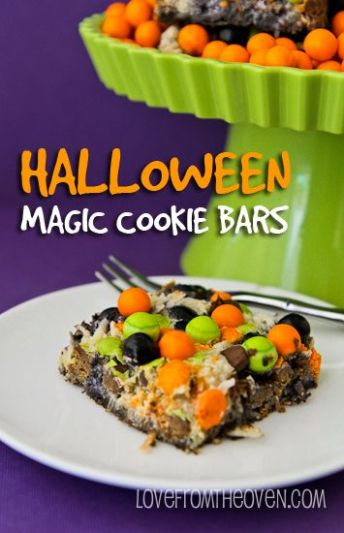 halloween magic cookies bars