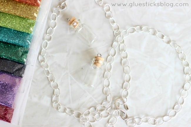 glitter necklace gluesticksblog
