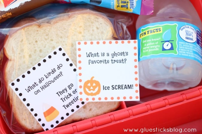 Printable Halloween Lunchbox Notes
