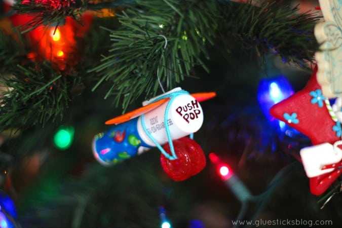 candy airplane ornament